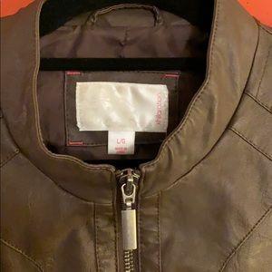 Xhilaration Jackets & Coats - Xhilaration Faux Brown Leather Jacket